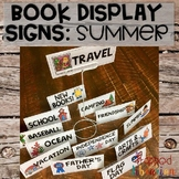 Book Display Signs: Summer