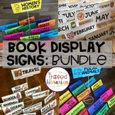 Book Display Library Signs | Year Round BUNDLE