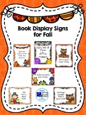 Book Display Signs for Fall