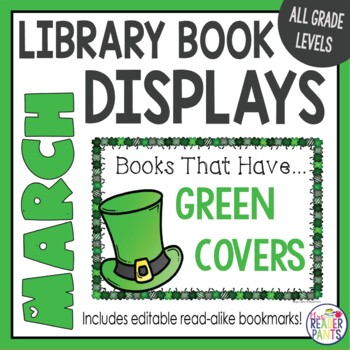 Book Displays: March, St. Patrick's Day, Women's History Month