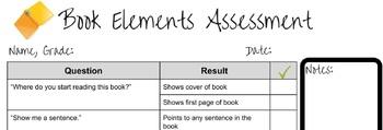 Book Elements Assessment