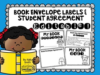 Book Envelope Labels and Student Agreement- EDITABLE!