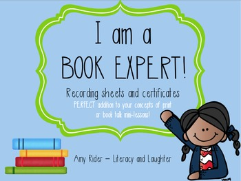 Book Expert - Recording Sheets & Certificates
