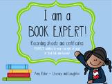 Book Expert - Recording Sheets & Certificates