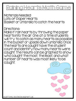 Book Extension: The Day it Rained Hearts (Comprehension Activities)