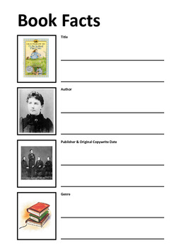 Book Facts Worksheet / On the Banks of Plum Creek Unit Study