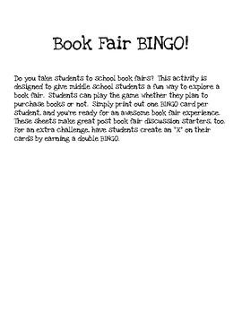 Book Fair Bingo