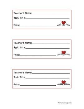 Book Fair Book Wish List Slips