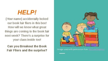 Book Fair Breakout for Primary Students
