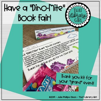 Book Fair Helpers - Dino-Mite Forms, Decor, and Things to Do