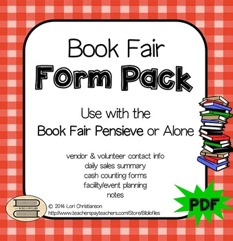 Book Fair Form Pack and Pensieve Organization System (all PDF)