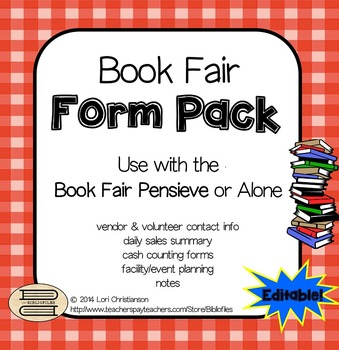 Book Fair Form Pack and Pensieve Organization System (Editable Version)