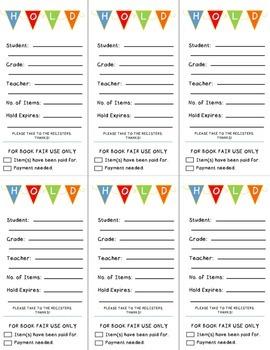 Book Fair Forms ~ Fiesta Brights
