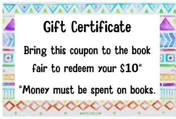 Book Fair Gift Certificaes