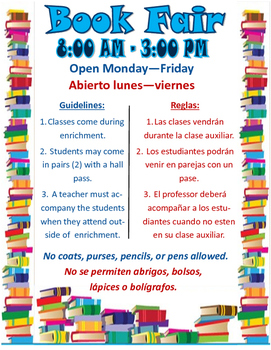 Dual Language and Bilingual Book Fair Poster