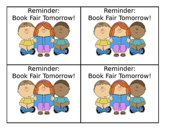 Book Fair Reminder