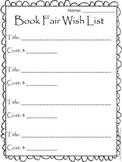 Book Fair Wish List Recording Sheet {FREEBIE}