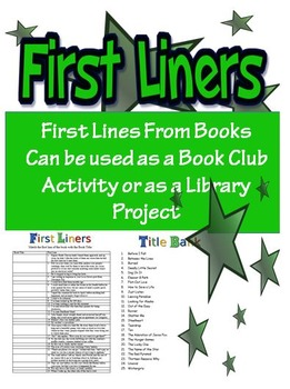 Book First Liners