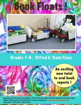 Book Floats! An Exciting Twist to Book Reports- Common Core Aligned Grades 1-4