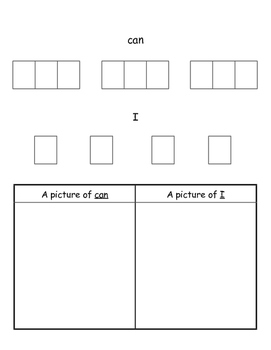 Sight Word Focus Can & I