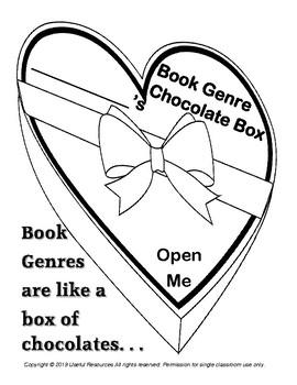 Book Genre Chocolate Box