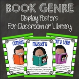 Book Genre Display Posters and Bulletin Board Letters for Library or Classroom