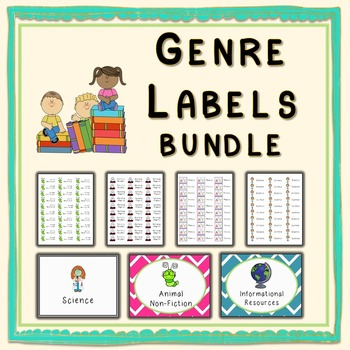 Book Genre Labels Bundle