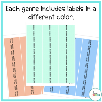 Book Genre Labels: A Great Way to Organize Your Classroom Library!