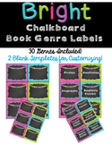 Book Genre Labels --Chalkboard Bright