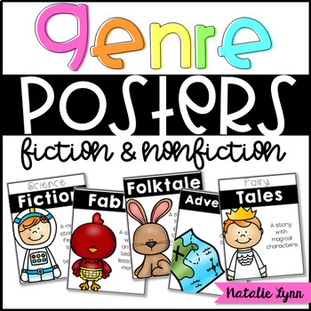 Book Genre Posters (Fiction and Nonfiction)