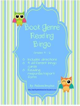 Book Genre Reading Bingo