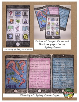 Book Genre Smart Phone Project - 12 Genres - Fun and Creative Activity