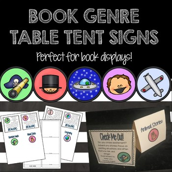 Book Genre Table Tent Signs - Display