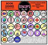 Book Genres Clip Art Bundle {Educlips Clipart}