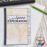 Book Genres Interactive Notebook Flip Book (High School/Advanced Reader)