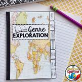 Book Genres Interactive Notebook Flip Book (Elementary School/Beginner Reader)