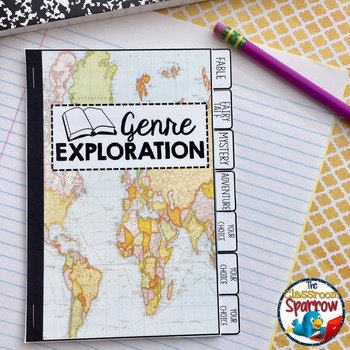 Book Genres Interactive Notebook Flip Book (Elementary School/Beginner Reader)