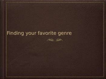Book Genres PPT