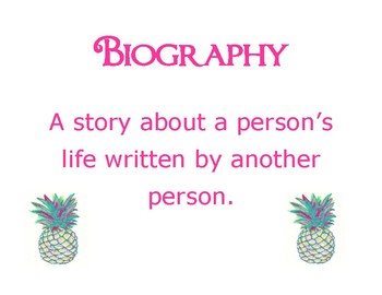 Book Genres Pineapple Theme