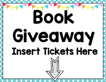Seeing Spots - Book Giveaway Sign