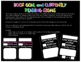 Book Goal and Currently Reading Signs