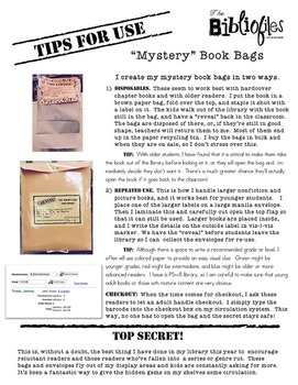 Book Grab Bags:  Mystery-Themed Printable Labels
