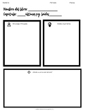 Book Graphic Organizer for Spanish Class