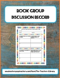 Book Group Discussion Record