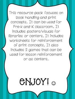 Book Handling & Print Concepts Resource