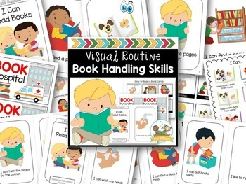 Book Handling Skills - Booklet, Read Aloud, Posters, Cards Editable