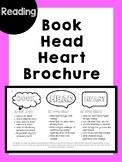 Book, Head, Heart Reading Brochure