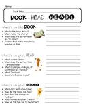 Book Head Heart recording sheet