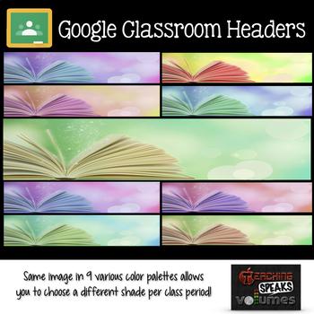Book Headers for GOOGLE CLASSROOM