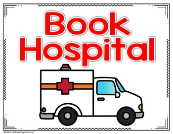 Book Hospital: Students place damaged books into the book hospital basket for repair.